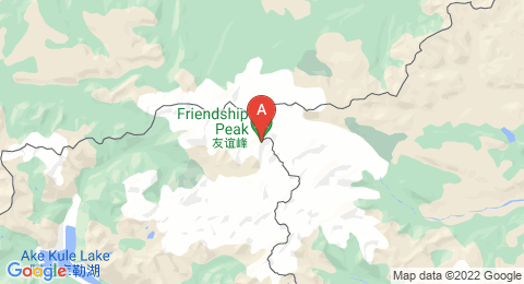 map of Hüiten Peak (China)
