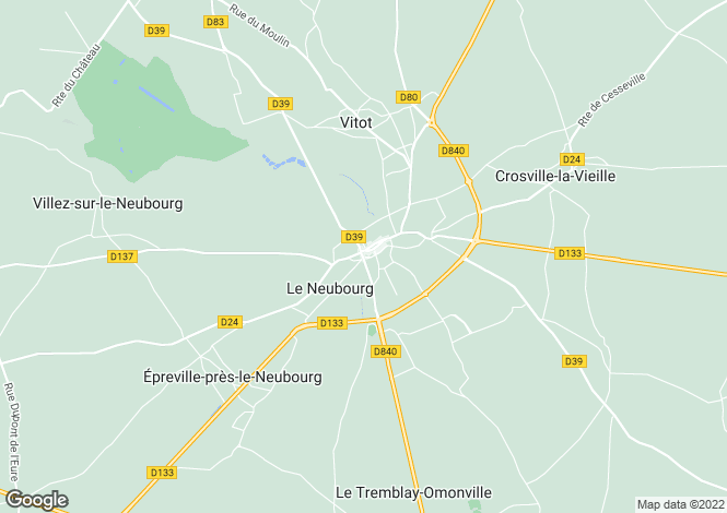 Map for le-neubourg, Eure, France