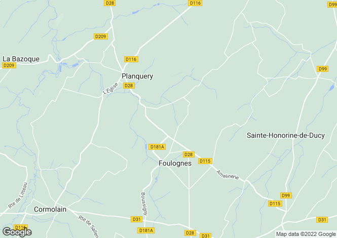 Map for foulognes, Calvados, France