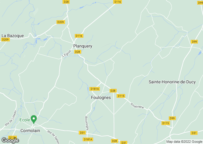 Map for Normandy, Calvados, Foulognes