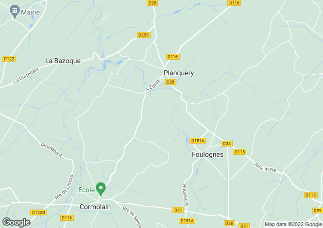 Map for planquery, Calvados, France