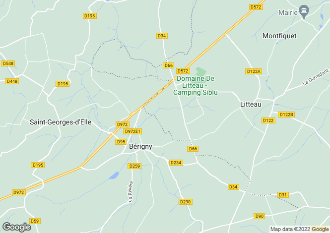 Map for berigny, Manche, France