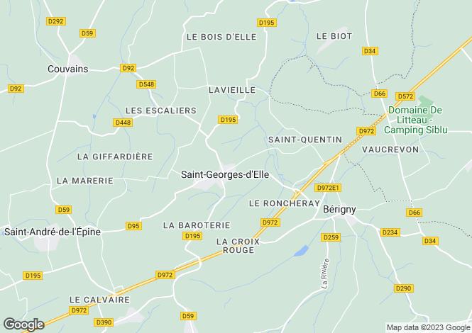 Map for saint-georges-d-elle, Manche, France