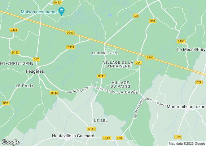Map for le-mesnil-vigot, Manche, France