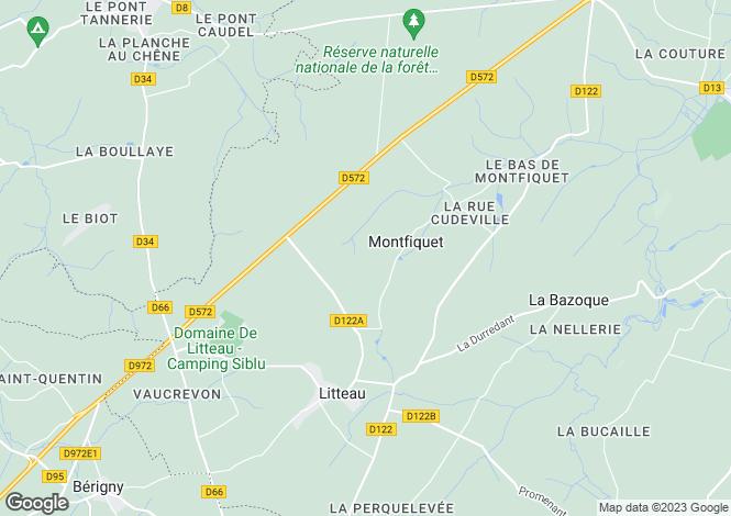 Map for montfiquet, Calvados, France