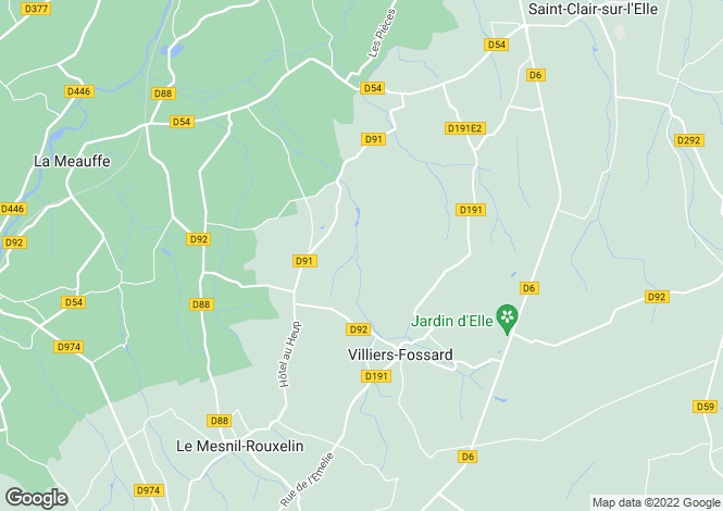 Map for 50680 VILLIERS-FOSSARD, Manche, France