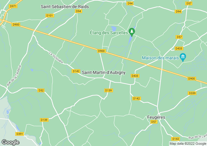 Map for Normandy, Manche, St-Martin-d'Aubigny