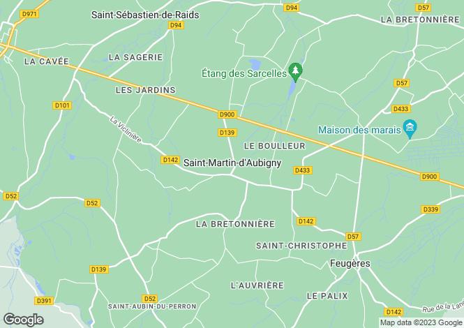 Map for saint-martin-daubigny, Manche, France