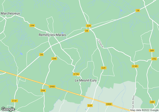 Map for Remilly-sur-Lozon, Manche