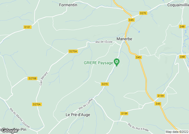 Map for Normandy Manor, Pays D'Auge, Calvados