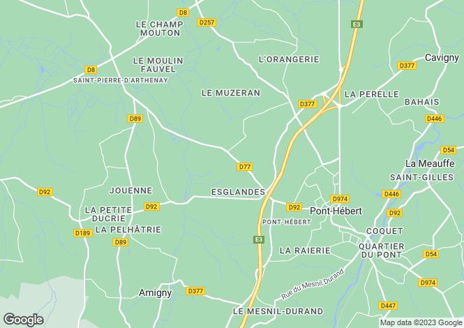 Map for Saint-Lô, Manche, 50620, France