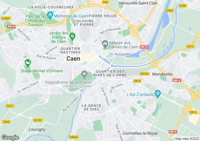 Map for CAEN, NORMANDIE