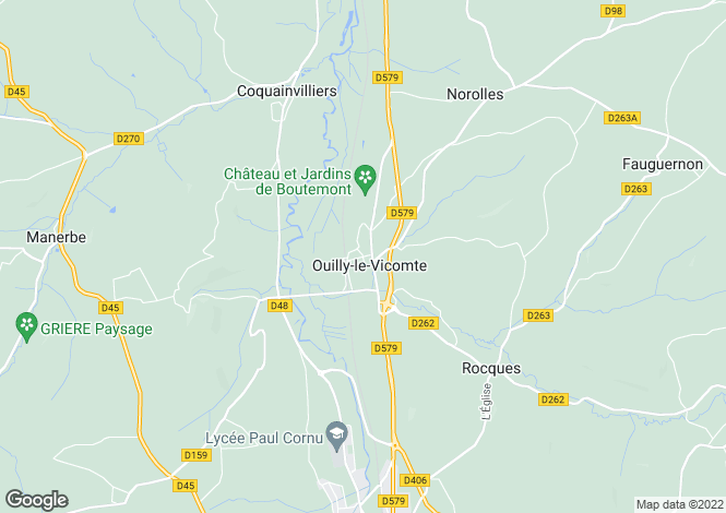 Map for OUILLY LE VICOMTE, Basse-Normandie