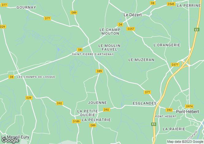 Map for le-hommet-d-arthenay, Manche, France