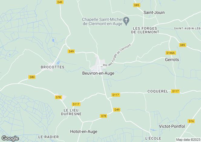 Map for BEUVRON EN AUGE, Basse-Normandie