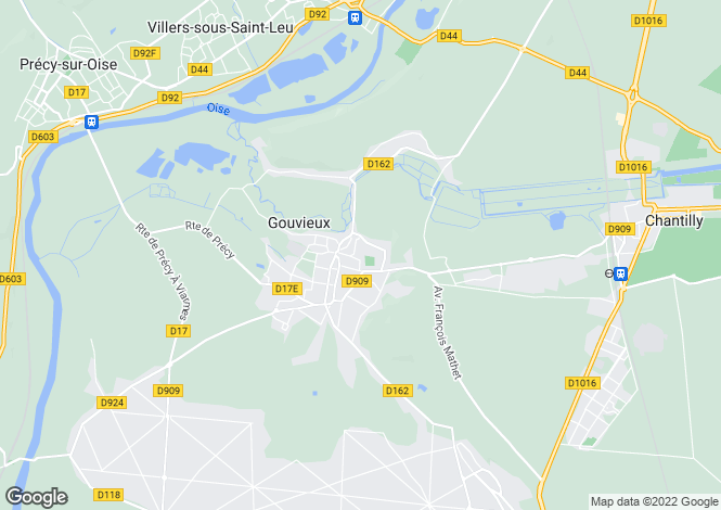 Map for gouvieux, Oise, France