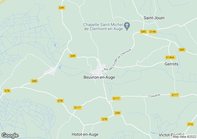 Map for Manor On 29 HA Of Grassland, Beuvron-En-Auge, Normandy