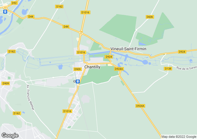 Map for chantilly, Oise, France