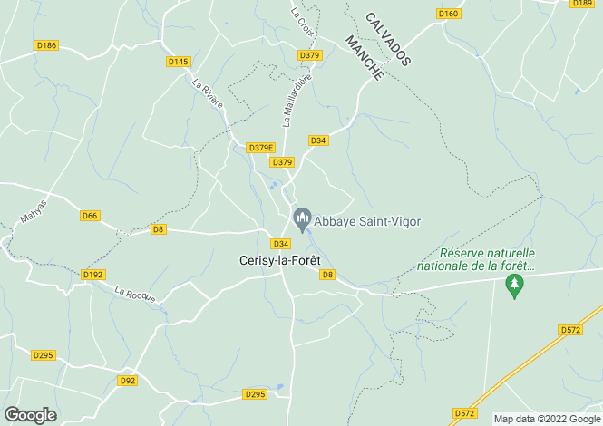 Map for CERISY LA FORET, 50680, France