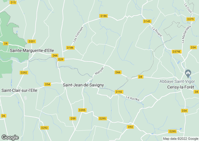 Map for SAINT JEAN DE SAVIGNY, Basse-Normandie