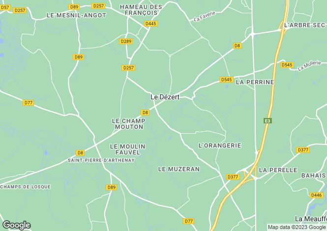 Map for le-dezert, Manche, France