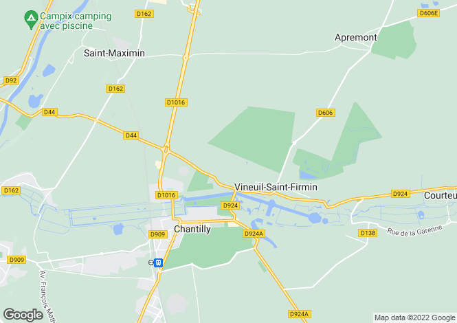 Map for Chantilly, Oise, Picardy