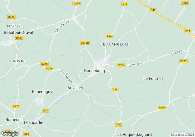 Map for BONNEBOSQ, Basse-Normandie