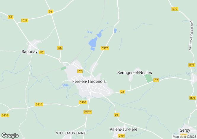 Map for fere-en-tardenois, Aisne, France