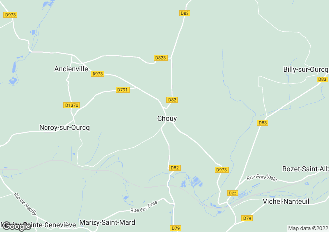 Map for chouy, Aisne, France