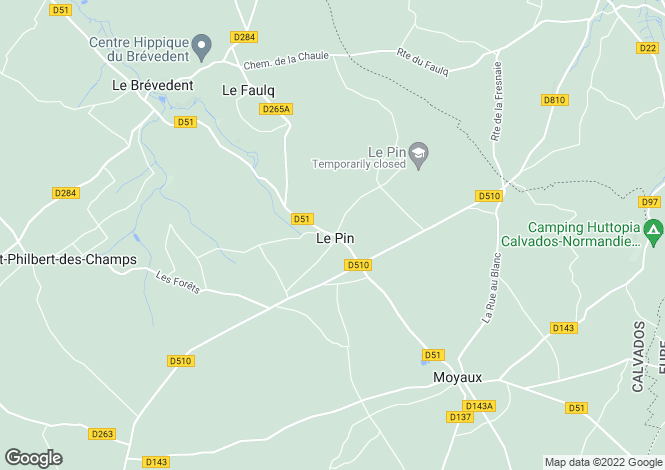 Map for le-pin, Calvados, France