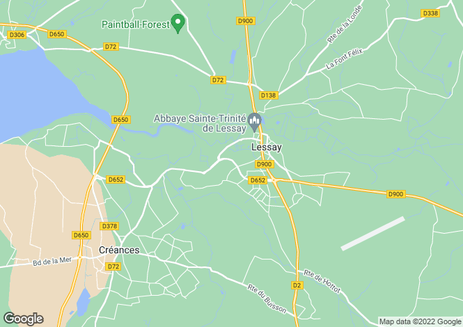 Map for lessay, Manche, France