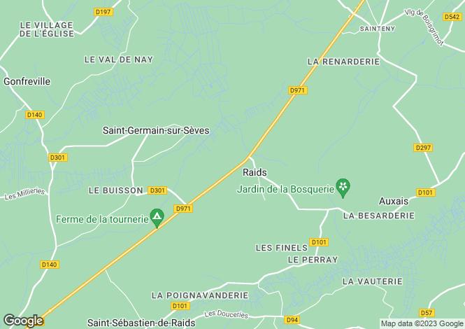 Map for raids, Manche, France