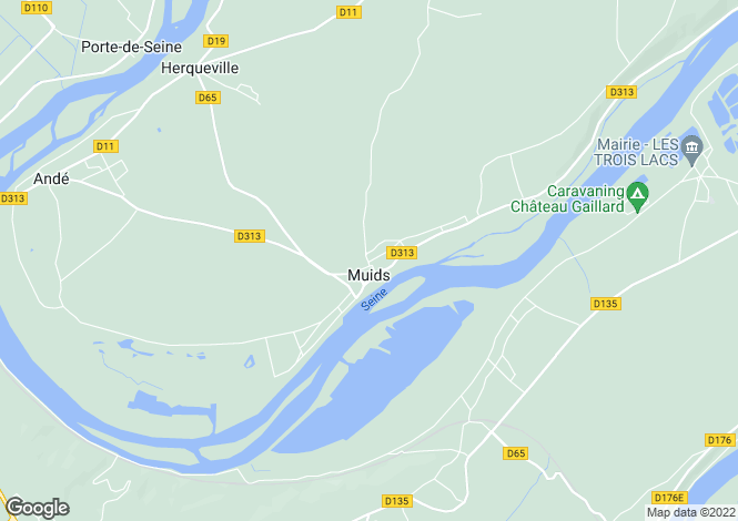 Map for Normandy, Eure, Muids