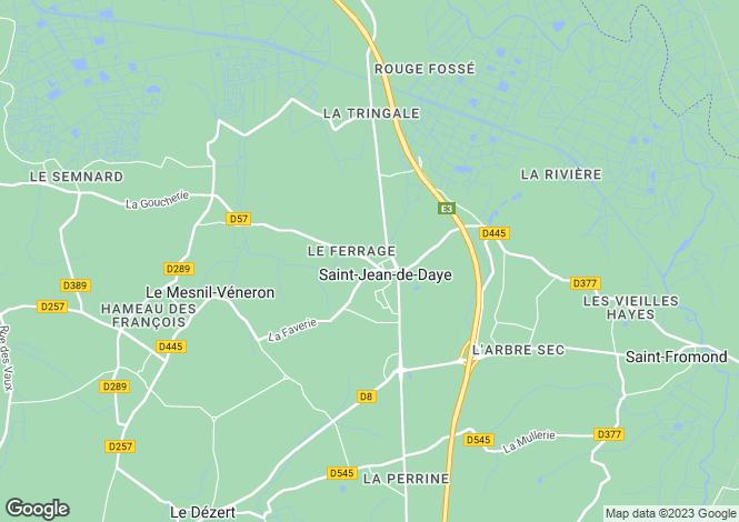 Map for St-Jean-de-Daye, Manche, Normandy
