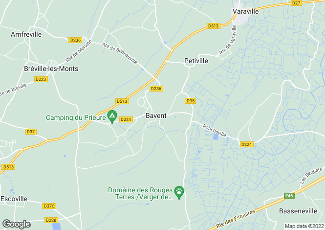 Map for BAVENT, Basse-Normandie