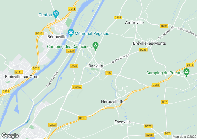 Map for RANVILLE, NORMANDIE