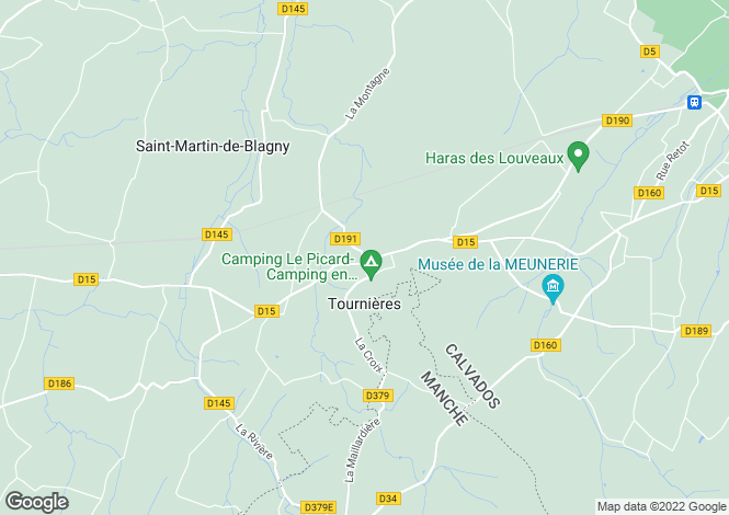 Map for tournieres, Calvados, France