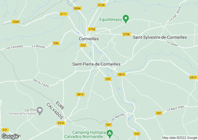 Map for st-pierre-de-cormeilles, Eure, France
