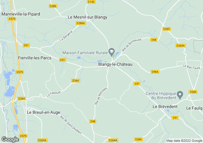 Map for blangy-le-chateau, Calvados, France