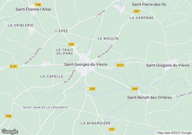 Map for St-Georges-du-Vièvre, Eure, Normandy