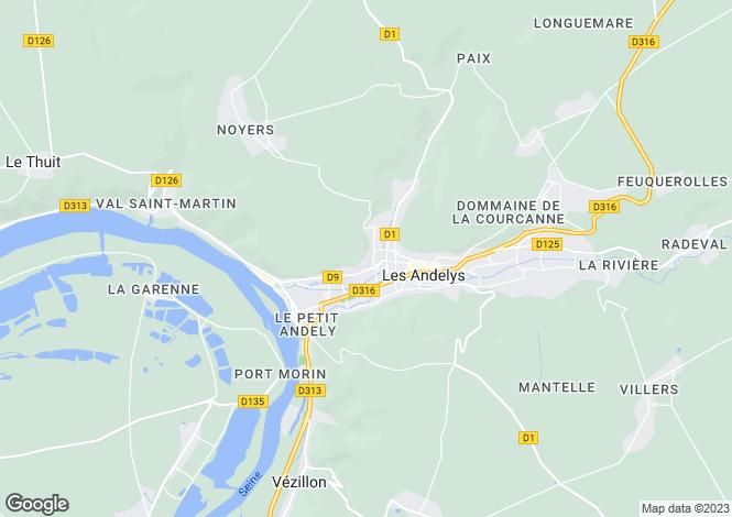 Map for les-andelys, Eure, France