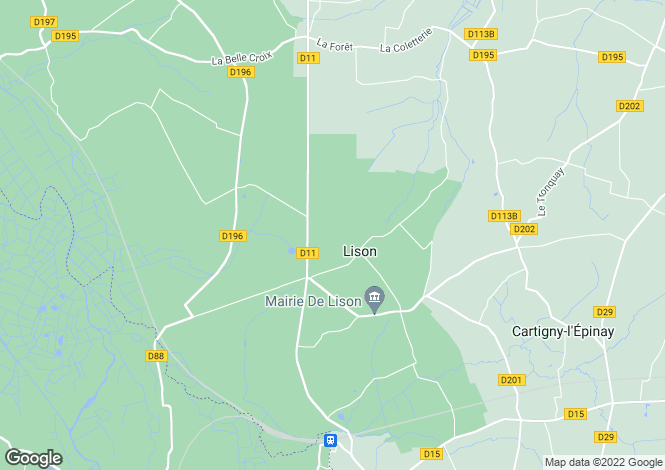 Map for lison, Calvados, France