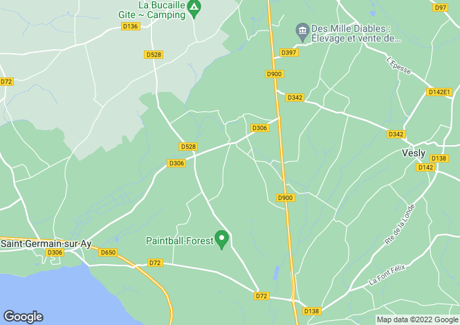 Map for 50430 ANGOVILLE-SUR-AY, Manche, France