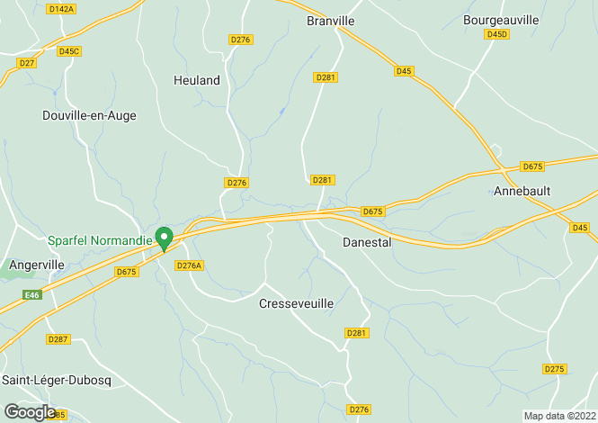 Map for Normandy, Calvados, Danestal