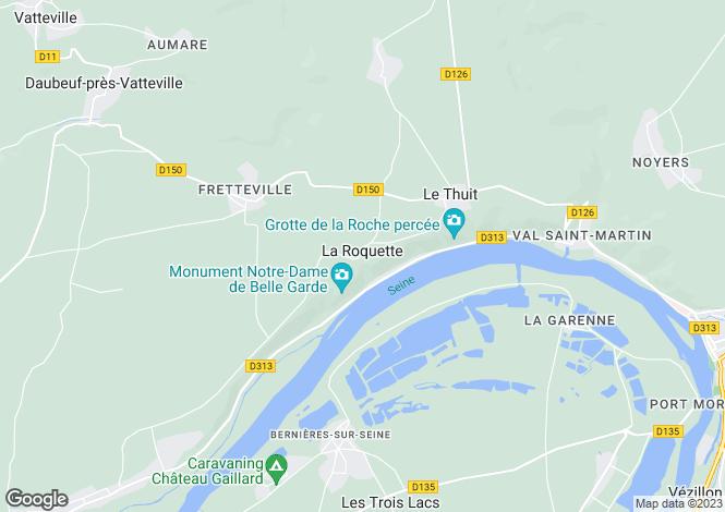 Map for la-roquette, Eure, France