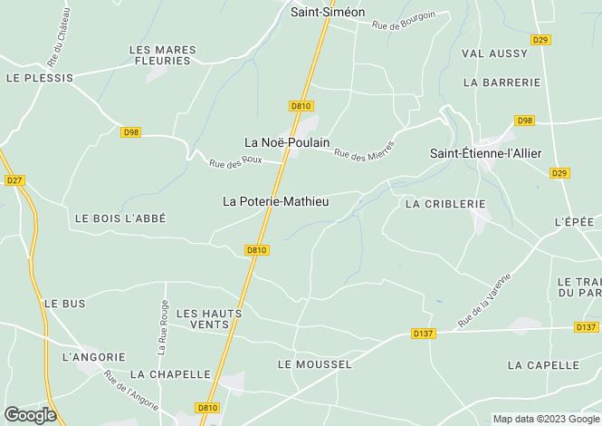 Map for Normandy, Eure, La Poterie-Mathieu