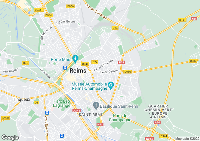 Map for REIMS, Champagne-Ardenne