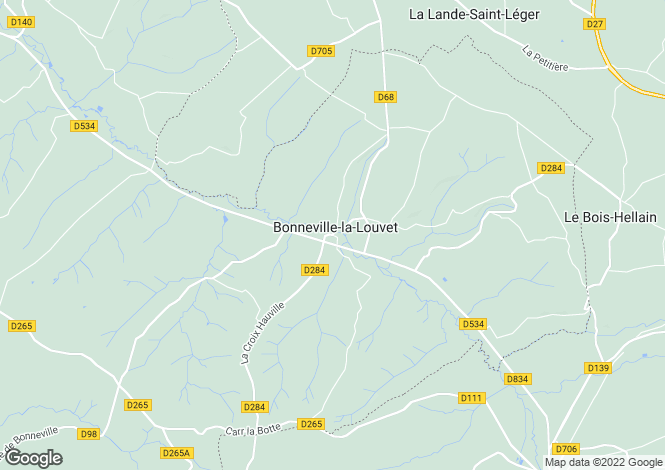 Map for bonneville-la-louvet, Calvados, France