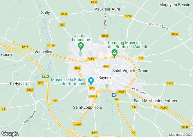 Map for 14400 BAYEUX, Calvados, France