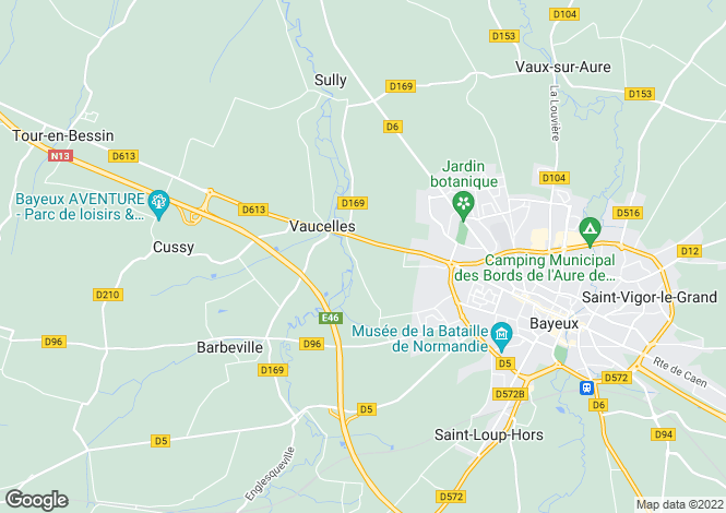 Map for vaucelles, Calvados, France